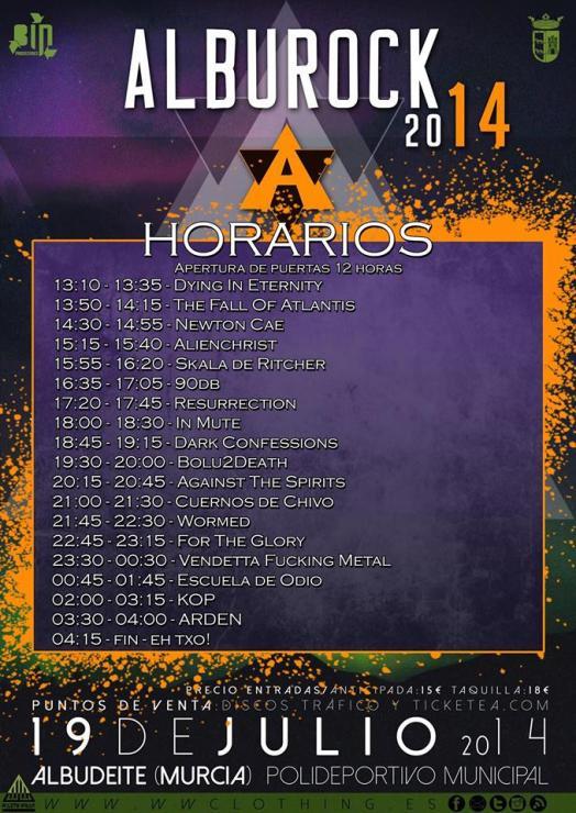 Horarios alburock